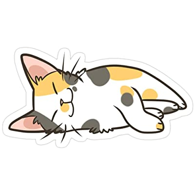 Andrews Mall Sleeping Calico Stickers (3 Pcs/Pack): Kitchen & Dining