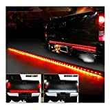 Wiipro Universal 60 Inch Red/white Tailgate LED Strip Light Bar Reverse Brake Turn Signal Tail for Ford GMC Toyota Nissan Honda Truck SUV 4x4 Dodge Ram Chevy chevrolet Avalanche Silverado Waterproof