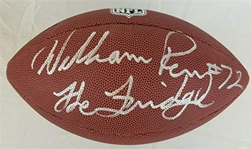 (William Perry The Fridge Autographed Signed Memorabilia Wilson NFL Football Schwartz Sports Bears - Certified Authentic)