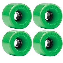 Kryptonics Star Trac Green Longboard Wheels - 60mm 86a (Set of 4)