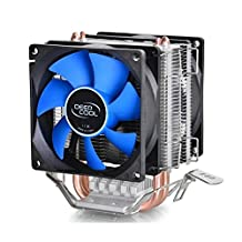 Dual Fan CPU Quiet Cooler Heatsink for Intel LGA775/1156/1155 AMD AM2/AM2+/AM3