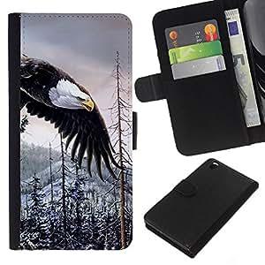 - WILDERNESS BALD ALASKA AMERICAN EAGLE - - Prima caja de la PU billetera de cuero con ranuras para tarjetas, efectivo desmontable correa para l Funny House FOR HTC DESIRE 816