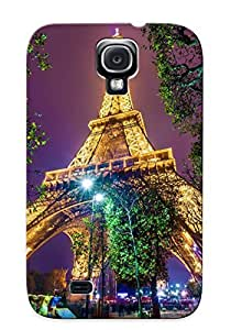 Case For Galaxy S4 Tpu Phone Case Cover(paris France Eiffel Tower) For Thanksgiving Day's Gift