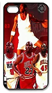 icasepersonalized Personalized Protective Case for iPhone 4/4S - Michael Jordan Chicago Bulls #23 NBA Sports