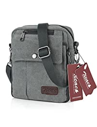 Koolertron Fashion Unisex Men's Women's Retro Lightweight Small Canvas Cross Body Everyday Satchel Bag Messenger Bag