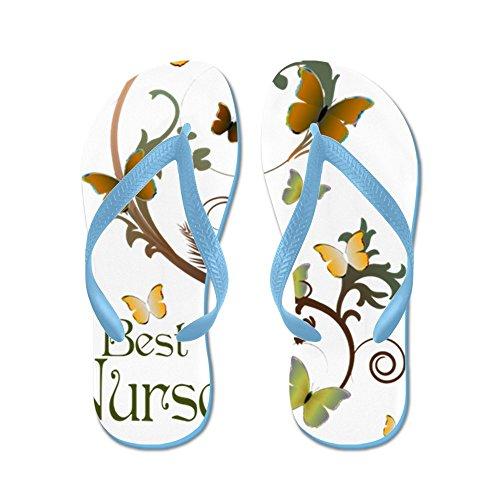 CafePress Best Nurse - Flip Flops, Funny Thong Sandals, Beach Sandals Caribbean Blue