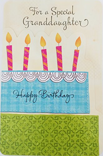 """Granddaughter """"You're A Shining Star"""" Happy Birthday Greeting Card - """"Talents / Hopes / Dreams - Wishes Come True"""""""