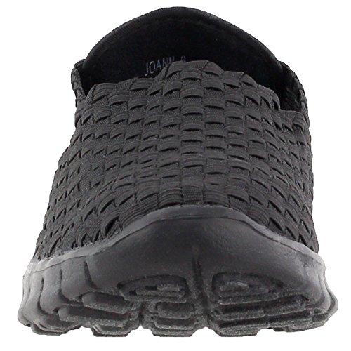 Slip Joann On Womens Fashion Casual Sneakers Silver Corkys Black 6xwaqgSwE