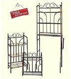Bronze Bathroom Organizer Set Storage Shelves 3-Piece Bath Set Wall Mounted & E book By Easy2Find