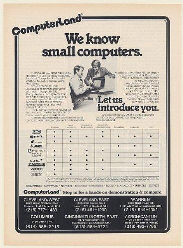 1982 ComputerLand Small Computers Altos Apple Atari IBM Osborne Vector Ohio Print Ad (Memorabilia) (56371)