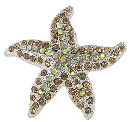 Sea Star Magnet with Topaz Crystal