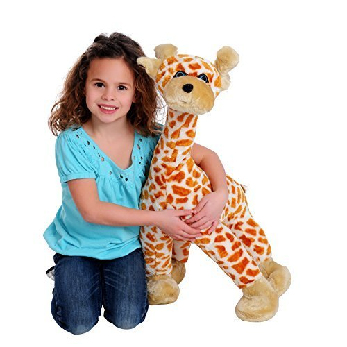 Plush Toy Giraffe - Inflatable & Deflatable, Looks & Feels Like A Real Stuffed Animal, -Includes Pump- Portable & Machine Washable - As Seen On TV - 26 Ft Tall - By iPlush