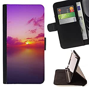 Jordan Colourful Shop - Sunset Beautiful Nature 73 For Sony Xperia M2 - Leather Case Absorci???¡¯???€????€??????????