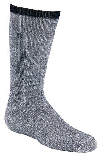 Fox River Snow Pack Jr. Over-The-Calf Merino Wool Socks (2 Pack), Black, Youth 5809 YT 07000 BLACK