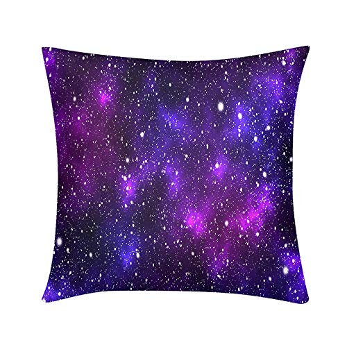 (HooMore Luxury Custom Art Design Photos Throw Pillow Colorful Galaxy with Nebula Clouds and Starlight Design for Sofa Bedroom Office Car Decorate Pillow )