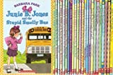 img - for JUNIE B. JONES 25-BOOK SET (Junie B. Jones . . . and the Stupid Smelly Bus, and a Little Monkey Business, and Her Big Fat Mouth, and Some Sneaky Peeky Spying , and the Yucky Blucky Fruitcake, and That Meanie Jim's Birthday, Loves Handsome Warren, Has a Monster Under Her Bed, Is Not a Crook, Is a Party Animal, Is a Beauty Shop Guy, Smells Something Fishy, Is (Almost) a Flower Girl, and the Mushy Gushy Valentime, Has a Peep in Her Pocket, Is Captain Field Day, Is a Graduation Girl, First Grader (at Last!), Boss of Lunch, Toothless Wonder, Cheater Pants, One-Man Band, Shipwrecked, Boo . . . and I Mean It!, and Aloha-ha-ha!) book / textbook / text book
