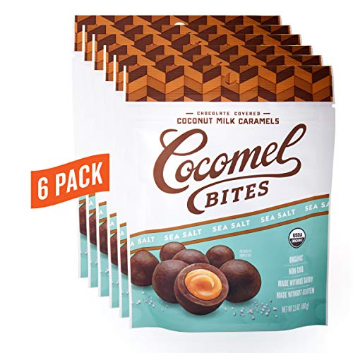 Candy Corn Art (Cocomels Chocolate Sea Salt Caramel Bites, Organic Candy, Dairy Free, Vegan, Gluten Free, Non-GMO, No High Fructose Corn Syrup, Kosher, Plant Based, (6)