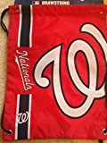 MLB Washington Nationalsbig Logo Drawstring Backpack, Washington Nationals, One Size