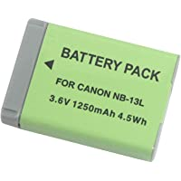 NB-13L Replacement Li-ion Battery for Canon PowerShot G5X G7X G9X G7 X Mark II G9X Mark II SX620 HS SX720 HS SX730 HS G1 X Mark III Digital Camera