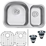 Ruvati RVM4400 Undermount 16 Gauge 32  Kitchen Sink Double Bowl