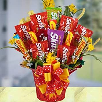 Amazon Com Succulent Skittles Bouquet Beautiful Chocolate And