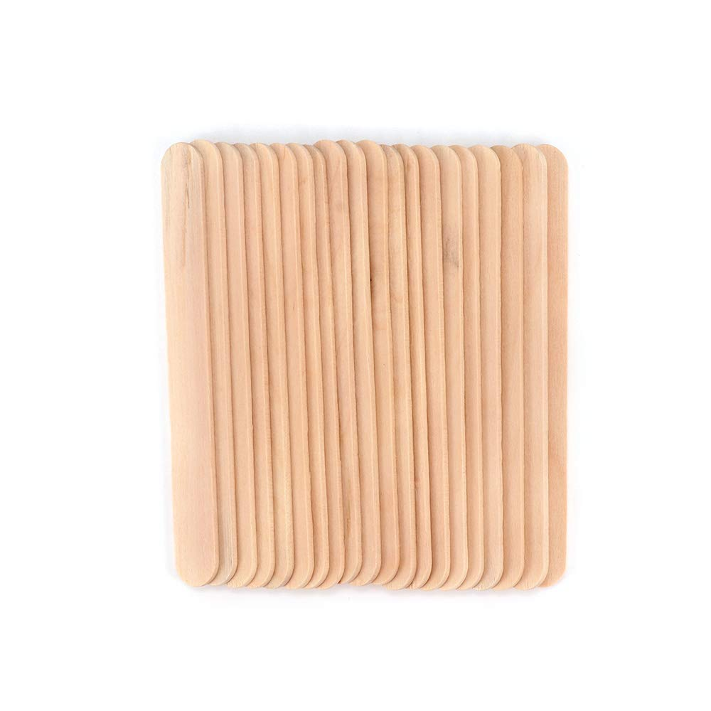 Houkiper 20pcs Ice Cream Sticks Wooden Popsicle Stick Kids Diy Hand