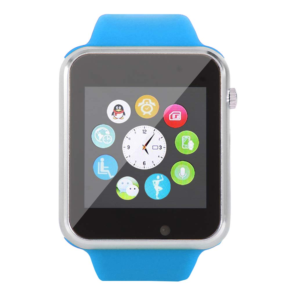 KOROWA Bluetooth Smart Watch for Android Message Phone Call Mobile Phone Step Counting Sport Intelligent Wrist Watchblue