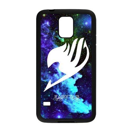 LeonardCustom Protective Hard Rubber Coated Cover Case for Samsung Galaxy S5, Fairy Tail Guild Logo -LCS5U141 (Galaxy S5 Tail Fairy)