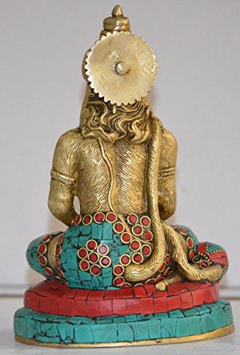 PR-1650-MB2281D Solid Brass Lord Hanuman / Maruthi /Anjaneya