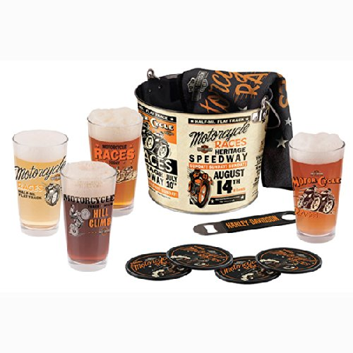 Harley-Davidson - Race Day Pint Glass Bucket Set HDL-18736 by Harley-Davidson