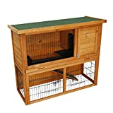 Kinbor 41-Inch Rabbit Hutch Bunny Cage Small Animal House Pet Cage