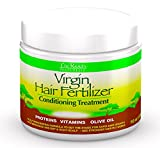 Hair Growth Home Remedy The Roots Naturelle Virgin Hair Fertilizer Conditioning Treatment (1 Jar 16oz) - Virgin Hair Fertilizer (Large 16oz). Helps Strengthen Hair, Promote Rapid Hair Growth and Protect/ Restore Damaged Hair