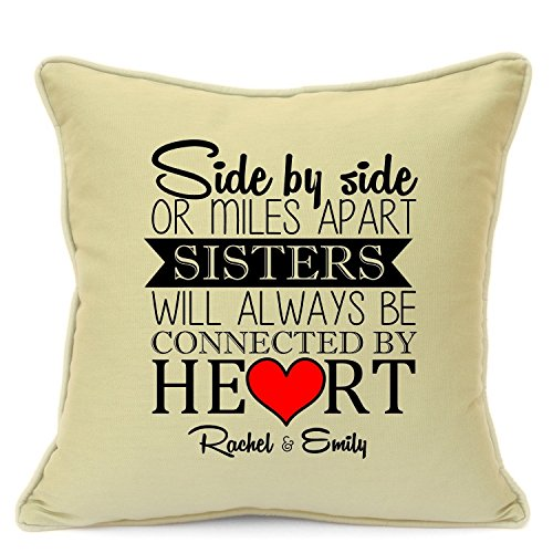 Personalized Presents Gifts For Sisters Best Friends Bridesmaids Cousins Birthday Christmas Xmas Wedding Always Together Cushion With Inner 18 Inch 45 Cm Unique Special Gifts Idea (Plaque Ideas Wedding)