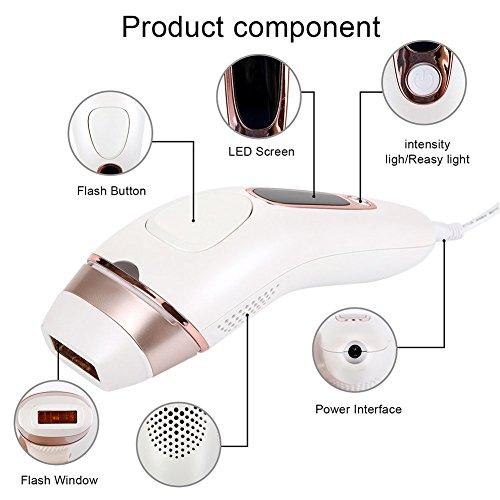 Depiladora láser depiladora segura y sin dolor portátil hogar LCD depilación instrumento cuerpo fuerte pulso ligero depilación equipo: Amazon.es: Salud y ...