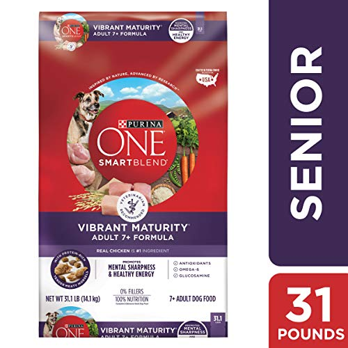 Purina ONE Senior Dry Dog Food; SmartBlend Vibrant Maturity Adult 7+ Formula - 31.1 lb. Bag (The Best Looking Dog In The World)