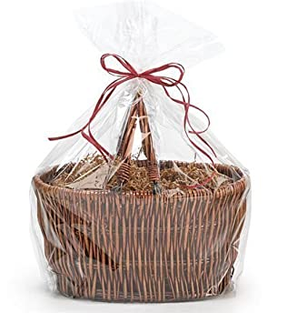 CakeSupplyShop Bundleofbeauty Extra Large Cellophane Bags Gift Basket - 30