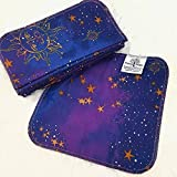 Celestial 12 Pack ECO CLOTH WIPES//100% Cotton ~ Large 8x8'' ~ Double Layer/2 ply by Primm n Proper Baby