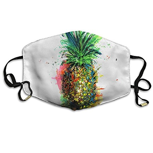 Adult Colorful Pineapple Art Mouth Face Masks Women Cool Motorcycle Anti Dust Face Mouth Mask-Reusable Mens