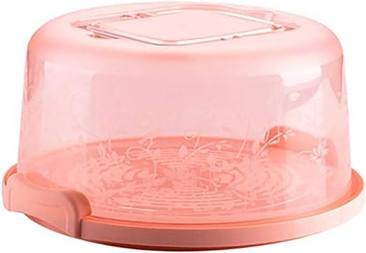 Bonito soporte de postre redondo para tartas y pasteles, con caja de almacenamiento, color rosa: Amazon.es: Bricolaje y herramientas