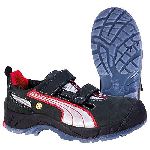 Puma Safety Shoes Comet Low S1 ESD SRC, Puma 640690-806 Unisex-Erwachsene Espadrille Halbschuhe, Schwarz (schwarz/weiß/rot 806), EU 39