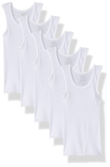 6ef58693b Amazon.com: Fruit of the Loom Boys' Cotton Tank Top Undershirt (Multipack):  Clothing