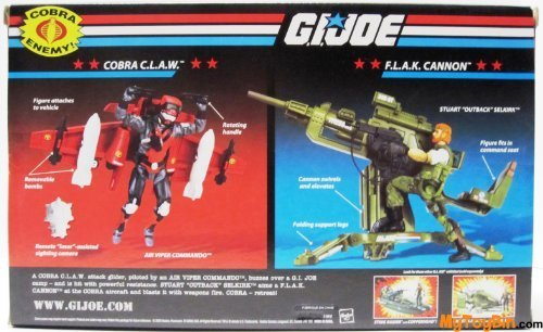Gi Joe Claws (G.I. JOE Vehicle CLAW Glider with Stratoviper and Flak Cannon with Outback)