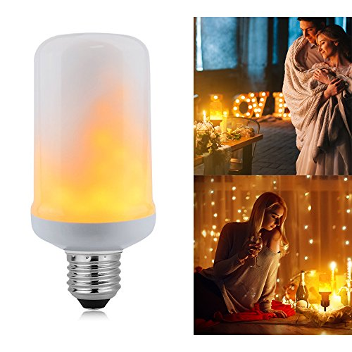 LED Flickering Flame Bulb, DragonLight E26 LED Flame Effect Fire Light Bulbs Simulated Decorative Light Atmosphere Lighting Vintage Flaming Light Bulb for Holiday / Bar / Party / Home Decoration