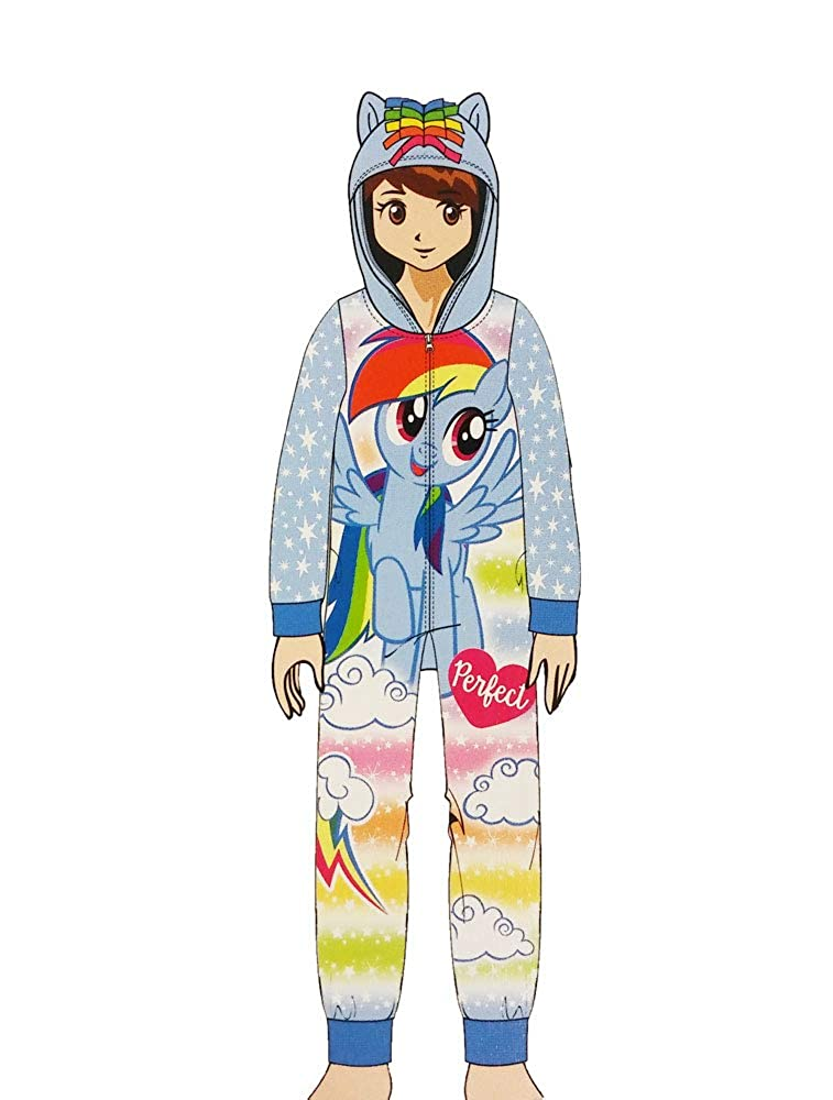 My Little Pony Rainbow Dash Girls Fleece Blanket Sleeper Hooded Onesie  Pajama 27d91322f