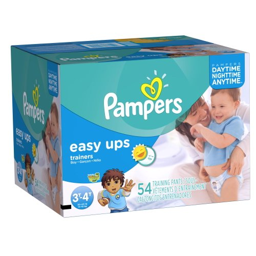 Pampers Easy Ups Boys Size 3T4T Big Pack 54 Count (Packaging May Vary) by Pampers