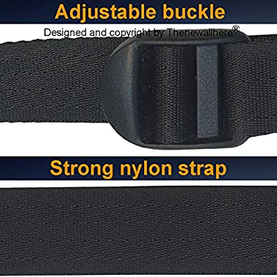 Thenewallhere Quick Release Buckles Utility Straps,Adjustable Nylon Straps with Clips for Sleeping Bag,Trail/Game Camera,Backpacking.4 Pcs 72