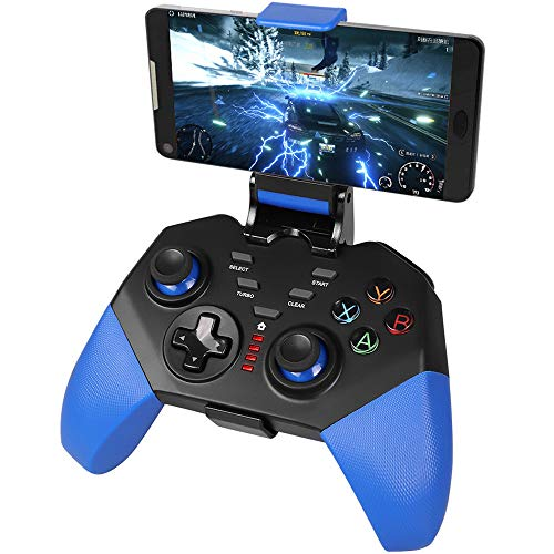 Mobile Game Controller, PowerLead PG8721 Wireless Turbo Combo Key Mapping Mobile Gamepad Compatible with iOS Android iPad Tablet (Best Emulator Controller For Android)