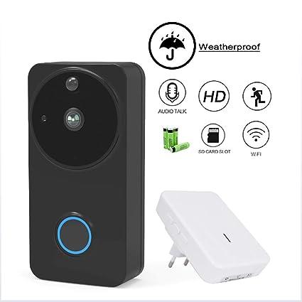 HUIJIN1 Timbre de vídeo, 720P HD WiFi cámara de Seguridad en Tiempo Real de 2