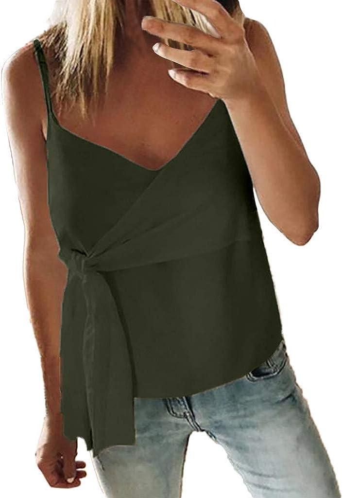 Ginli Canotta Donna Abbigliamento Vestiti Donna Estate Magliette T-Shirts Tunica Casual Elegante Crop-Tops Tank Tops Camicette Felpa Canotte Donne Ragazze Moda