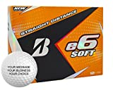 Bridgestone e6 Soft Personalized Golf Balls - Add Your Own Text (12 Dozen) - White
